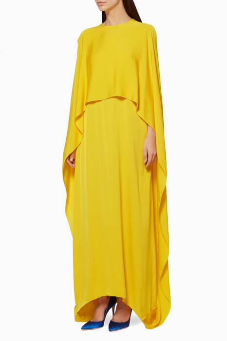 Yellow Cape-Style Gown