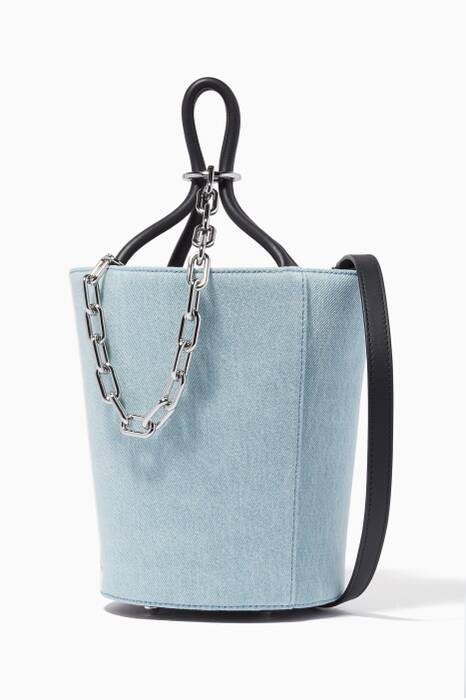 Denim Mini Roxy Cage Bucket Bag