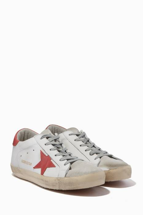 White, Grey & Pink Classic Contract Low-Top Superstar Sneakers