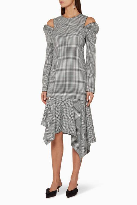 Multi-Coloured Glen Plaid Racing Dress