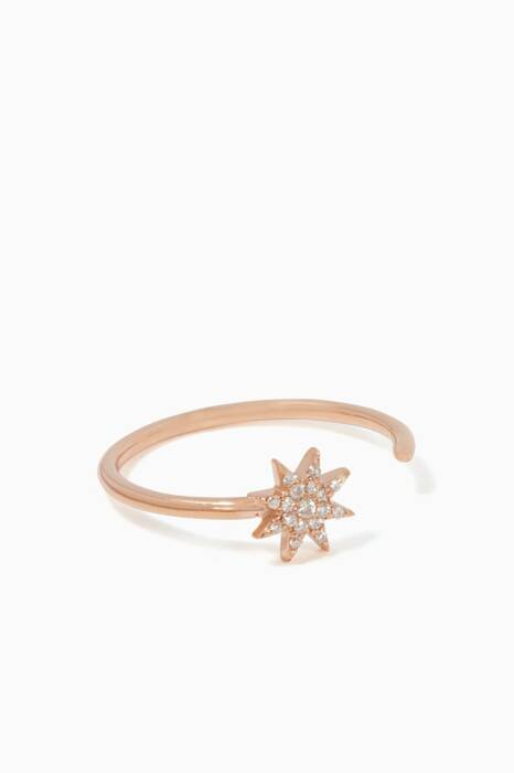 Rose-Gold & Diamond Venus Star Shine Ring
