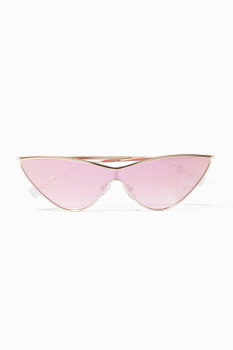 Gold The Fugitive Sunglasses