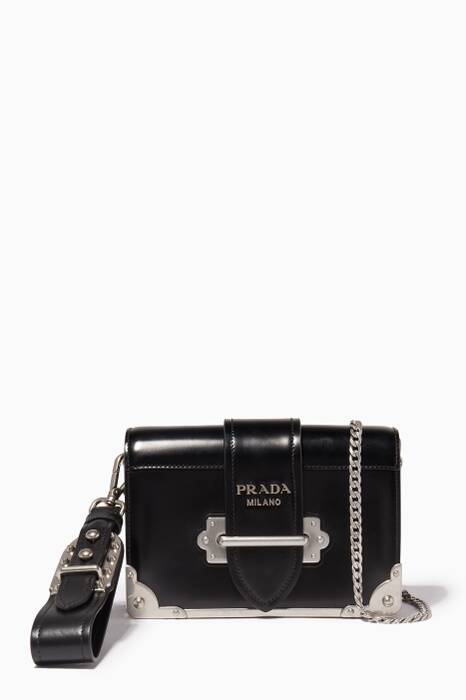 Black Mini Cahier Chain & Wristlet Shoulder Bag