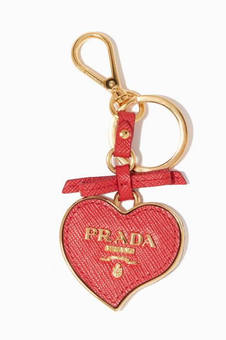 Red Heart-Shaped Key Ring