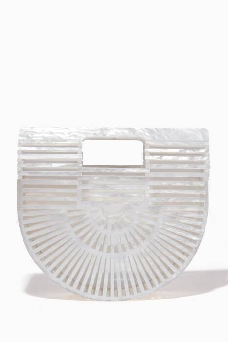 White Mini Acrylic Ark Bag