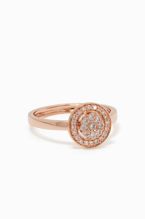 Rose-Gold & Diamond Flower Ring