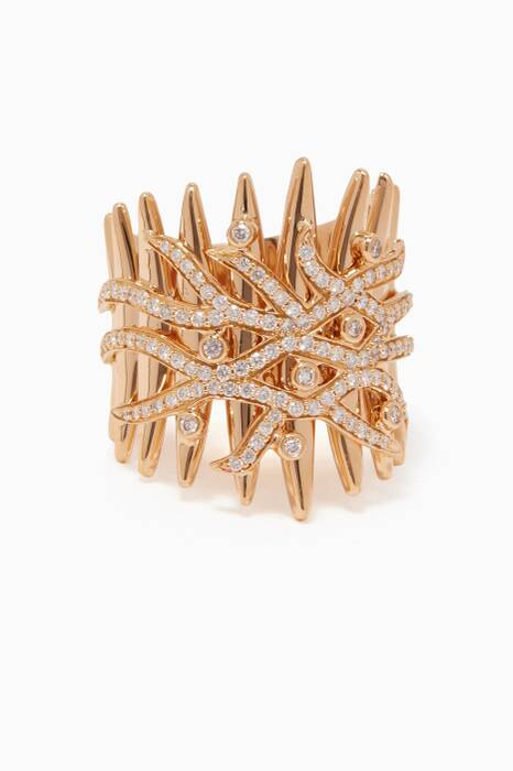 Yellow-Gold & Diamond Tribal Ring