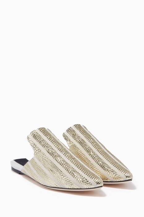 Gold & Cream Riga Slippers