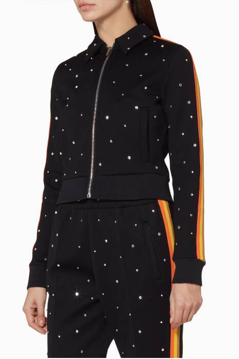 Black Jersey Polka-Dot Jacket