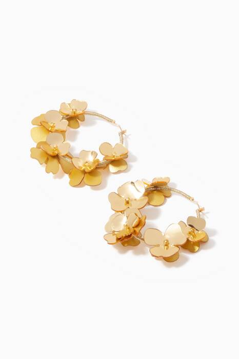 Gold Flower Garden Hoops