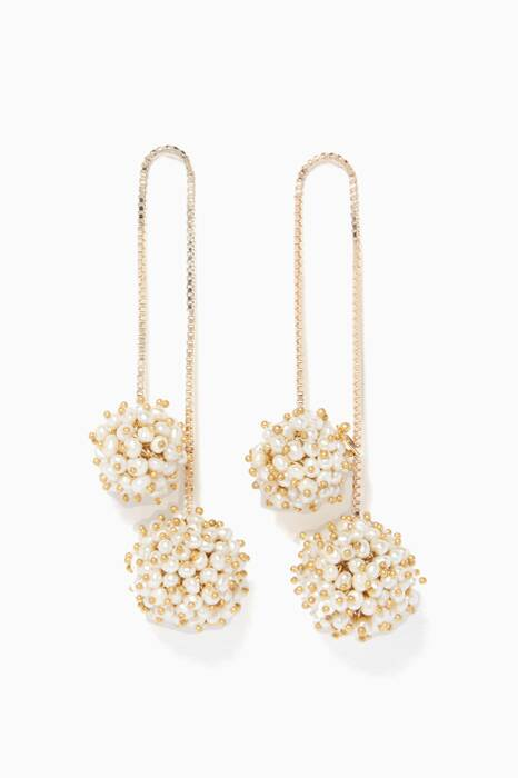 White Suono Pearl Earrings