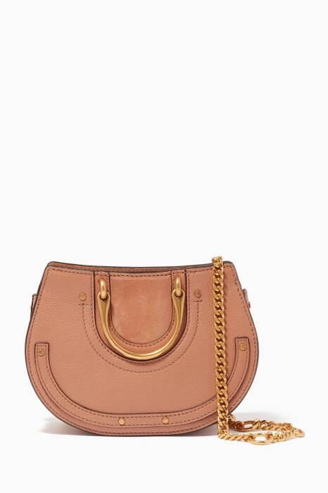 Brown Mini Pixie Suede Belt Bag