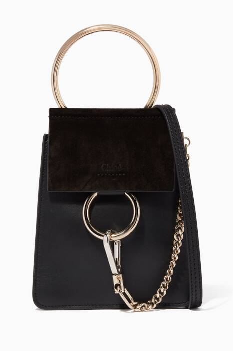Black Small Faye Bracelet Bag