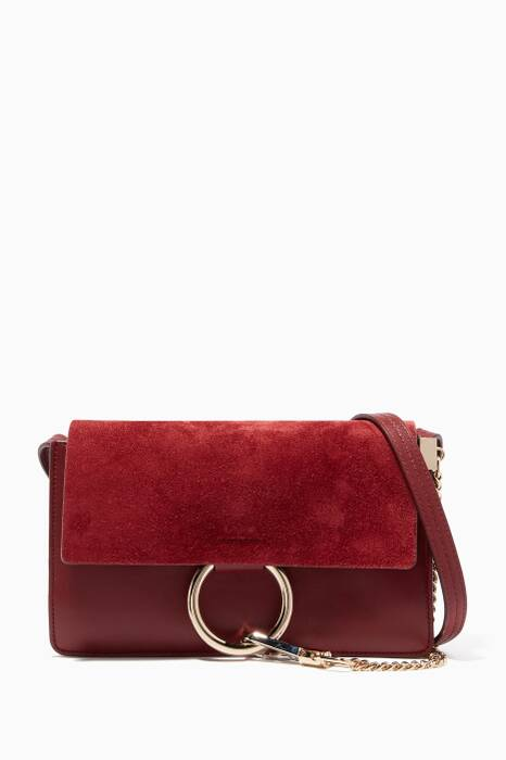 Plum Purple Small Faye Shoulder Bag