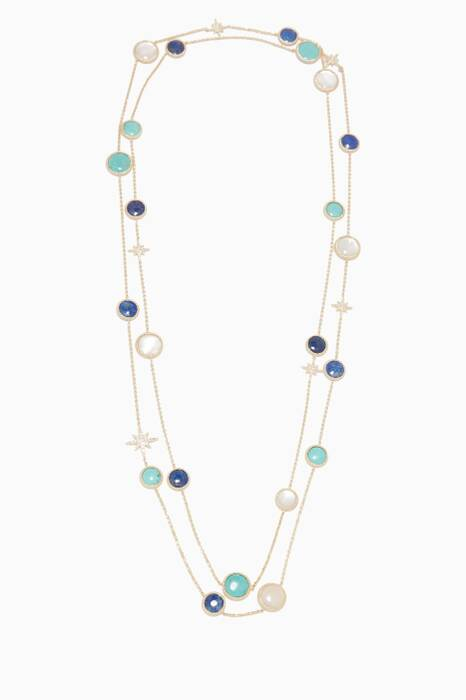 Gold Multi-Stone Necklace