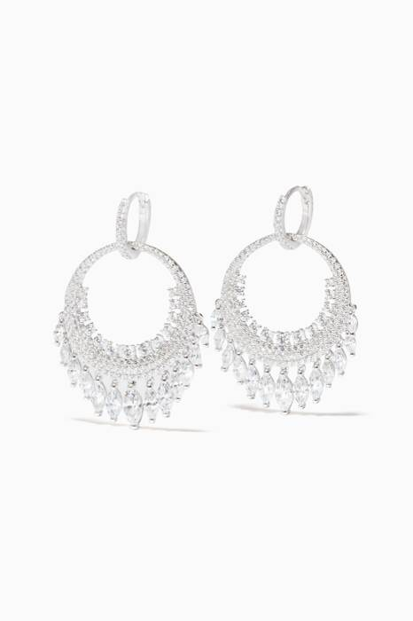 Silver Cascade Drop Earrings