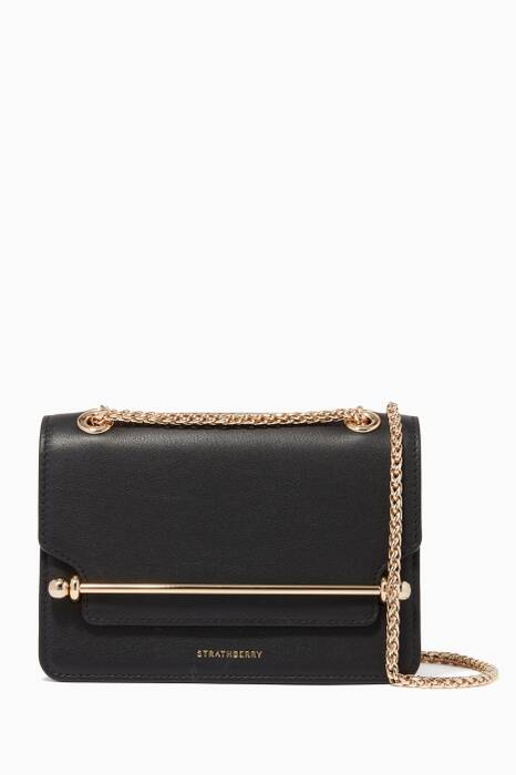 Black Mini East/West Cross-Body Bag
