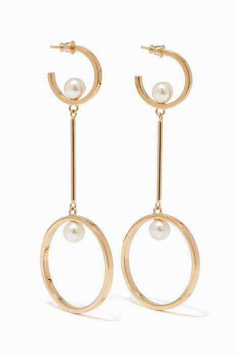 Gold Darcey Double Hoop Earrings