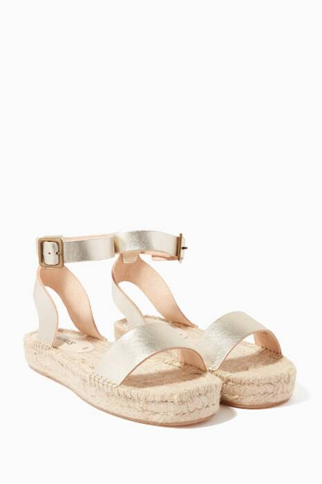 Gold Cadiz Platform Sandals