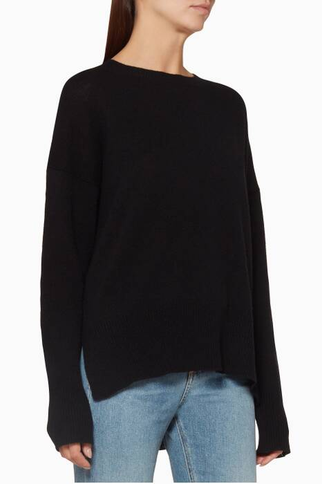 Black Cashmere Oversized Sweater