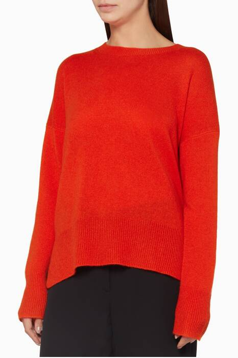 Red Cashmere Oversized Sweater
