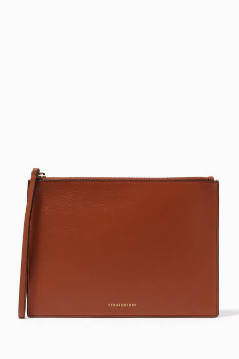 Brown Leather Folio Case