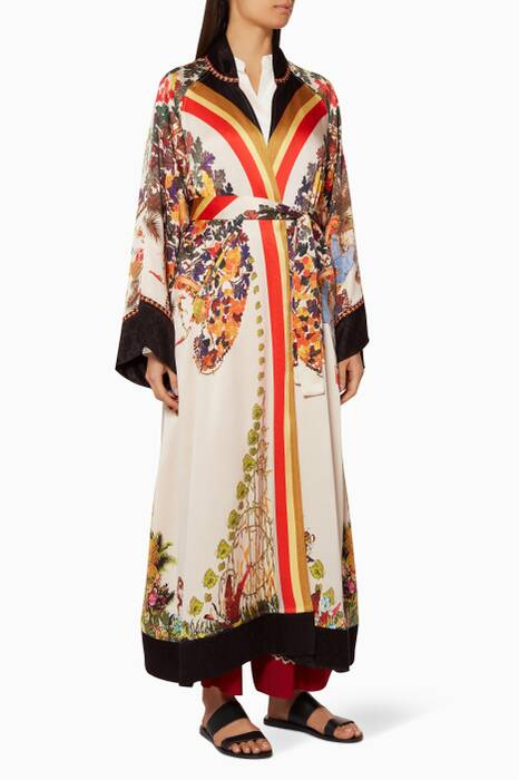 Multi-Colour Printed Pegaso Coat