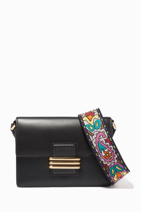 Black Fold-Over Shoulder Bag