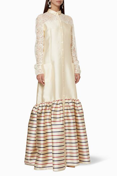Ivory Tiered Western Dress
