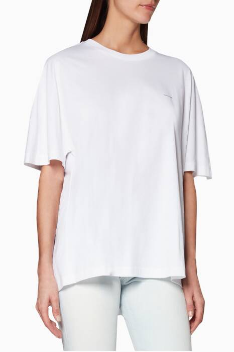 White Logo Cocoon T-Shirt