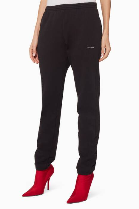 Black Copyright Logo Jogging Pants