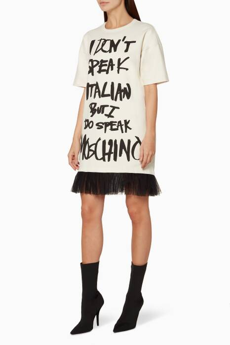 Ivory I Don't Speak Jersey Dress