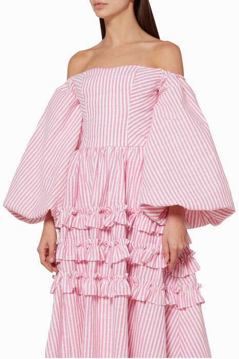 Light-Pink Striped Globo Top