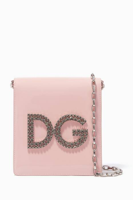 Rose-Pint Mini Embellished Girls Shoulder Bag