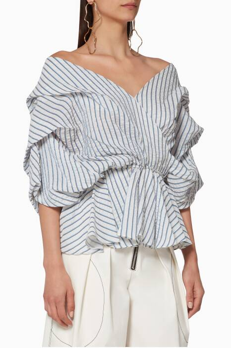 White Striped Marcella Top