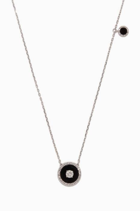 White-Gold & Black Onyx Coco Necklace