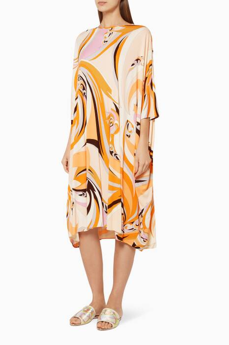 Multi-Coloured Printed Kaftan