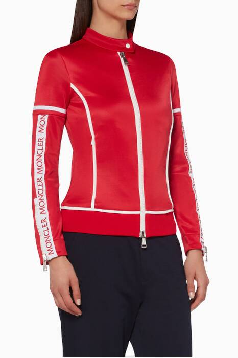 Red Maglia Zipped Logo Jacket