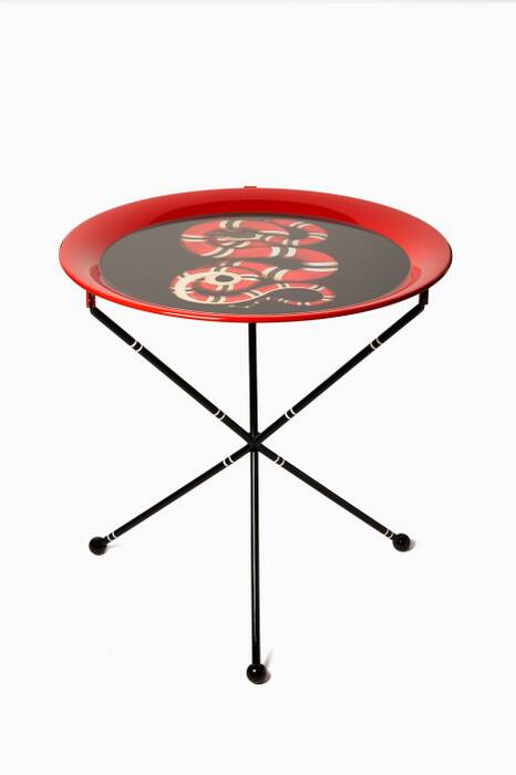 Red & Black Kingsnake Folding Table
