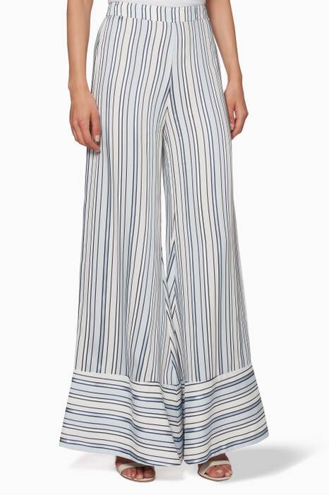 Blue Striped Maeva Pants