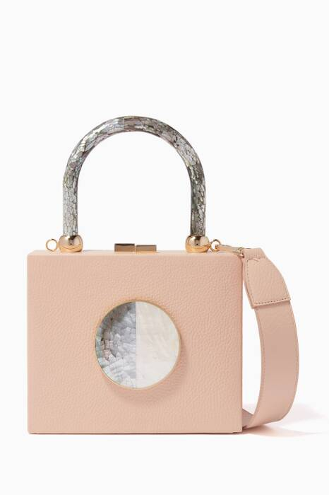 Beige Otto Dhalia Top-Handle Bag
