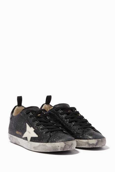Black Metallic Superstar Sneakers