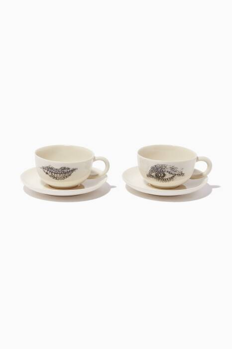 Mosaic Eye & Lip Turkish Coffee Set Of 2