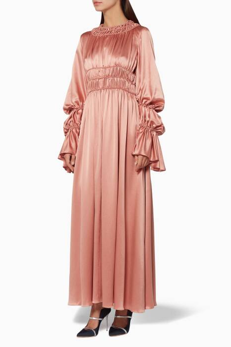 Antiqued-Pink Silk Zoya Dress