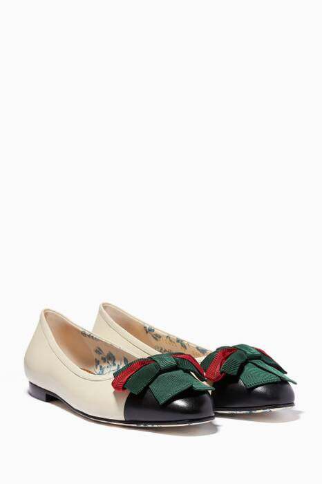 Off-White Web Bow Ballet Flats