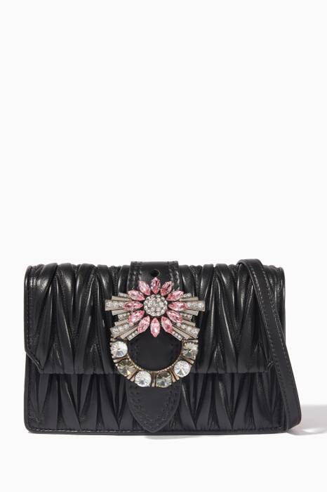 Black Miu Lady Cross-Body Bag