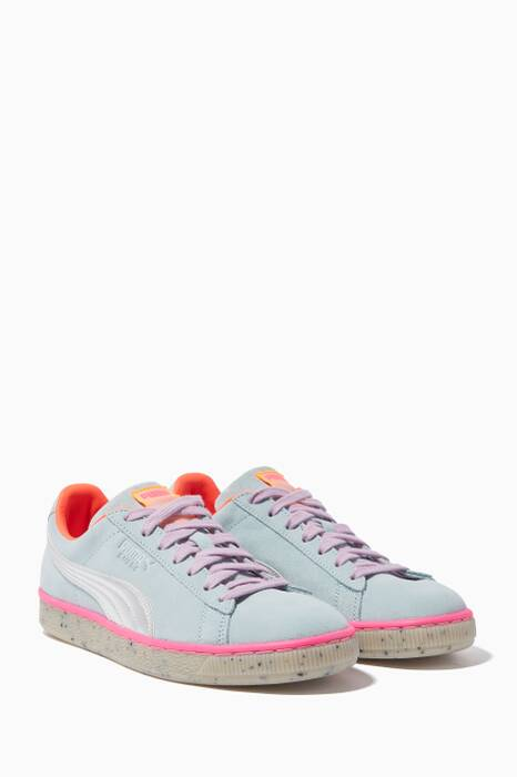 Light-Blue Suede Candy Princess Sneakers
