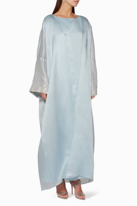 Light-Blue Kaftan & Embroidered Bisht