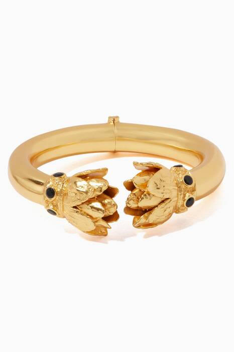 Gold & Black Oynx Lakshmi Bangle