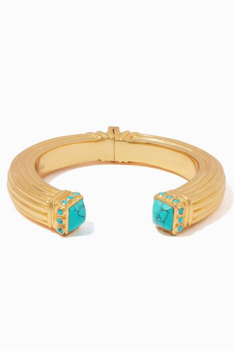 Gold & Turquoise Cher Bangle
